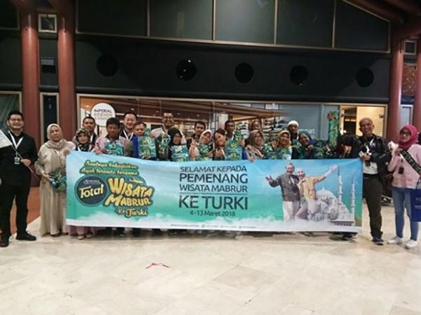 Para pemenang Wisata Mabrur dari Total Almeera Telah Berangkat ke Turki