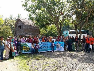 Para pemenang Wisata Mabrur dari Total Almeera Tiba di Lombok